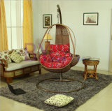 on Sale PE Rattan Outdoor Nest-Shaped Swing