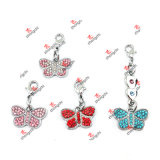 Wholesale Birthstone Butterfly Lobster Dangles Charms Pendants Christmas Gifts (BDJ50828)