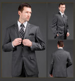 Italian Style Made to Measure Men′s Two Button Notch Lapel Slim Fit Suit