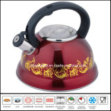 2.6L Flower Painted Stainless Steel Whistle Kettle