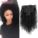 Brazilian Kinky Curly Clip in Human Hair Extension