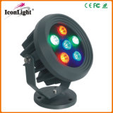 Waterproof 6PCS*1W LED Flood Light for Street and Road