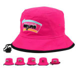 Beautiful Pink Cotton Bucket Hat with Embroidery