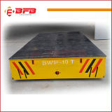 Foundry Plant Material Handling Electric Trackless Vehicle on Cement Floor