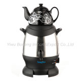 Sf-3315 (Black) Turkish Samovar, Electric Kettle, Iranian, Russian Samovar with Ceramic Teapot