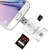3 in 1 Lightning + USB + Microusb Card Reader SD SDHC Sdxc Microsd Microsdhc Microsdxc Card Reader for Andriod iPhone