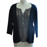 New Fashion Long Sleeve Women Sweater (Knitting with Tatting)