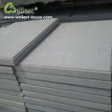 Grey White Sandstone Bush Hammered Finish Floor Paving Wall Tile