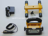 10W 4400mAh 10h LED Protable Floodlight