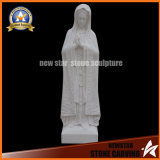 Stone Carving White Marble Virgin Mary Marble Statue Sculpture