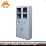 Flat Pack Half Glass Swing Door Office Metal Furniture Used Steel Filing Drawer Cabinet for Sale