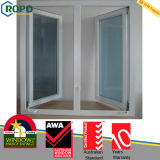 Plastic Profile Casement Glass Windows with Low-E Glass