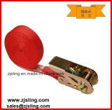 """25mm-100mm Endless Ratchet Strap 1"""" X 13′ Red"""