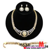 New Fashion Jewelry Celebrity Style Lion Head Piece Necklace, Earring & Bracelet Jewelry Set (NES59)