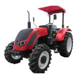 2015 New Design 85HP 4 Wheel Drive Tractor with Front Loader and Backhoe