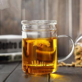 400ml Glass Tea Cup with Filter Festival Gift Glass Mug Office Tea Glass