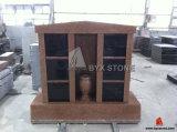 6 Niches Imperial Red Granite Columbarium with Shanxi Black Doors
