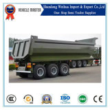 Tri-Axle Rear 40 Cubic Meter Tipper Dumper Truck Hydraulic Cylinder Lift Dump Trailer