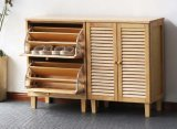 Solid Wooden Shoe Cabinet Modern Stool Living Room Shoe Cabinet (M-X2065)