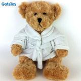 Custom Plush Bathrobe Teddy Bear Stuffed Plush Toy Hotel Teddy Bear with Bathrobe