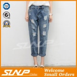 Street Fashion Strench Stratch &Ripped Women Ninth Jean Pants Clothes