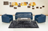 Stainless Steel Reception Lobby Leather Sofa Sets (9038)