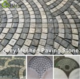 Natural Meshed Granite/Basalt/Slate/Bluestone Fan Shape Paving Stone for Garden/Driveway