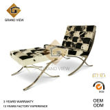 Pony Leather Leisure Barcelona Chair (GV-BC01)