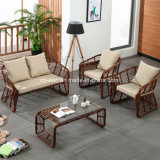 Cheap Outdoor Garden PE Rattan Wicker Round Coffee Table and Chairs Set (Z327)