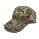 Mesh Curved Bill Trucker Hat 5 Panels Cap