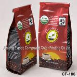 Custom Printing Flat Bottom Coffee Packaging Bags
