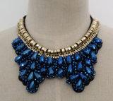 Bead Crystal Fashion Charm Chunky Bib Costume Choker Collar Necklace (JE0007)