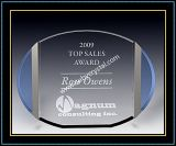 """Crystal Award Plaques / Oval Plaque 5"""" H (NU-CW723)"""