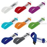 Silicone Ribbon Keyring Custom USB Flash Drive (WB-004)