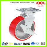 Red PU Heavy Duty Caster (P701-46D150X50Z)