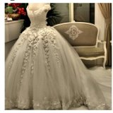 Sweetheart Lace Bridal Ball Gowns Puffy Wedding Dresses Z2049
