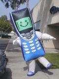Inflatable Costume, Mobile Phone Moving Cartoon Mascot (K6013)