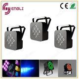 LED 12 PCS * 10W 4 in 1 Flat PAR Light
