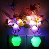 Taozi 2 PCS Kids Night Light Bathroom Kitchen Bedside Wall Light Lamp Color Changing Plug in LED Mushroom