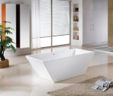 Against Wall Square Acrylic Freestanding Acrylic Bathtubs for Export, MOQ: 1PC