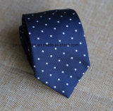 Classic Poly Woven Navy Dots Necktie for Men