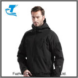 Men Outdoor Water Resistant Tactical Softshell Hooded Jacket