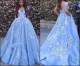 Lace Prom Party Gown Beading Evening Dresses Ld11551