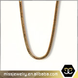 New Dubai Square Hip Hop Gold Snake Chain Necklace for Men Mjcn014