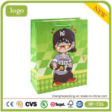 Coated Paper Litte Boy Sweet Candy Shopping Gift Paper Bag