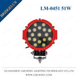 Black/Red 6.3 Inch 51W Round Offroad LED Work Light