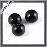 Black Color Round Ball Glass with Smooth Facet