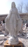 Virgin Mary Statue Stone Sculpture for Marble Garden Sculpture (SY-X1083)