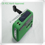 Siren Lithium Battery USB Port Solar Power Radio (HT-555)
