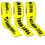 Yellow Warning Barrier Tape with Printing Text